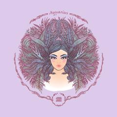 ilustrasi zodiak aquarius