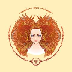 ilustrasi zodiak aries